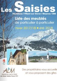 Brochure meublés particuliers Hiver 2017-18 + été 2018