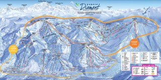 Plan pistes alpin