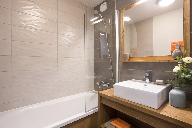 Exemple d'une salle de bain de la résidence Chalet des Cimes