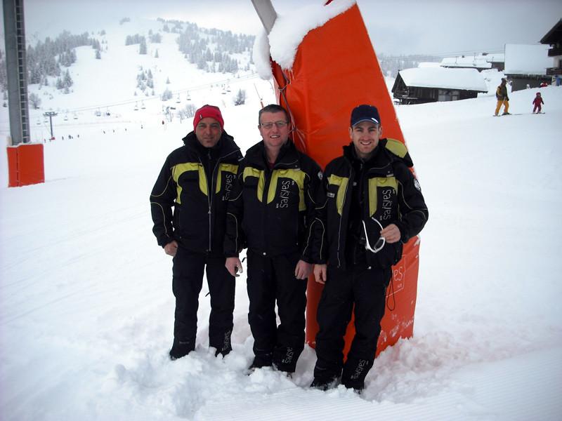 L'équipe de snowmaker des Saisies