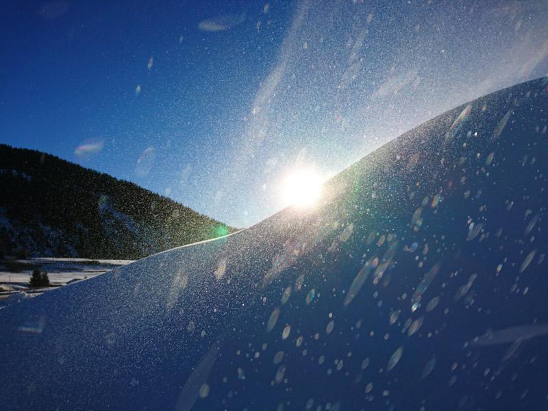 Flocons de neige de culture aux Carrets