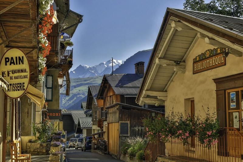 Le centre du village d'Hauteluce