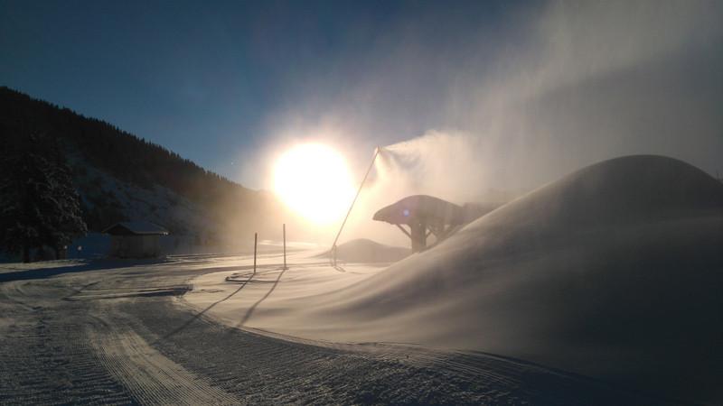 Production de neige de culture aux Carrets