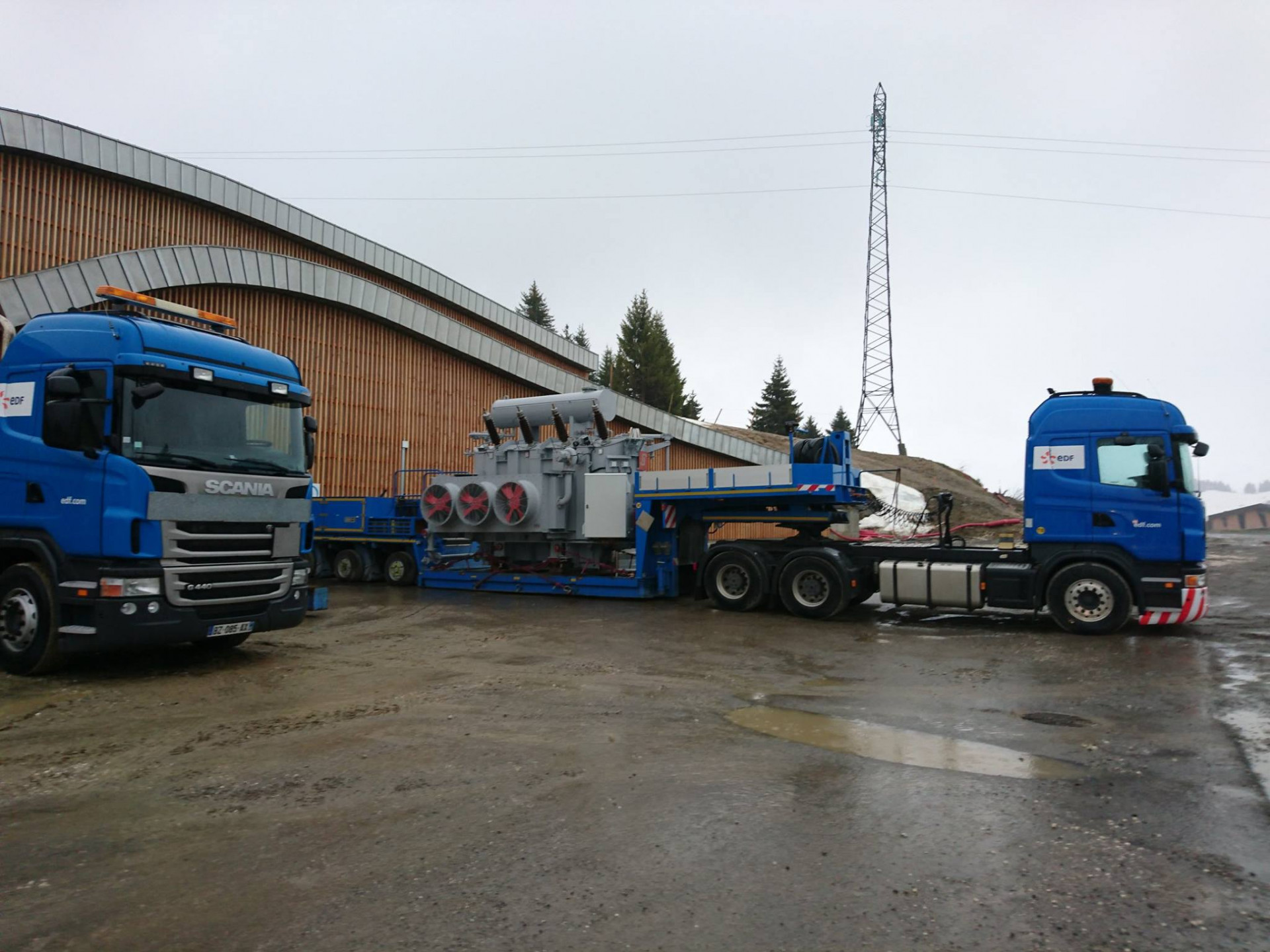 Arrivée du 1er transformateur de 40 tonnes