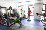 Salle fitness et musculation