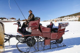 Calèche traîneaux sur neige