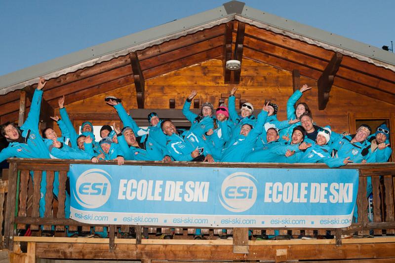 L'équipe de l'ESI au chalet du Jardin d'enfant