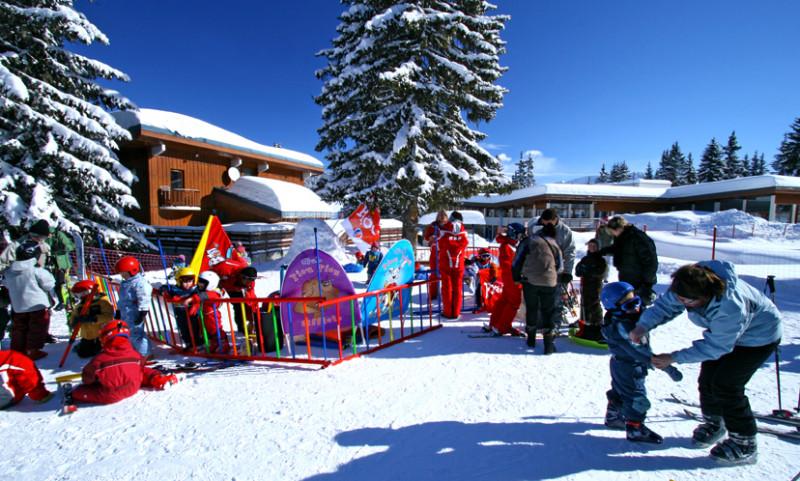 Jardin d'enfant et départ cours ESF Belambra