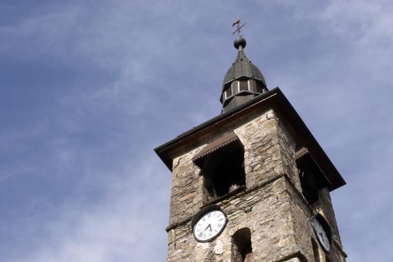 Clocher de l'église St Pierre à Villard-sur-Doron