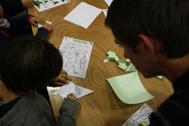 atelier origami avec la réserve naturelle de la tourbière