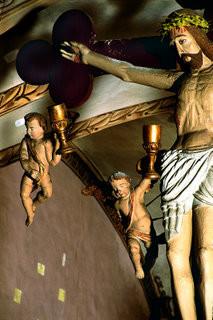 Poutre de gloire de l'église Saint-Pierre